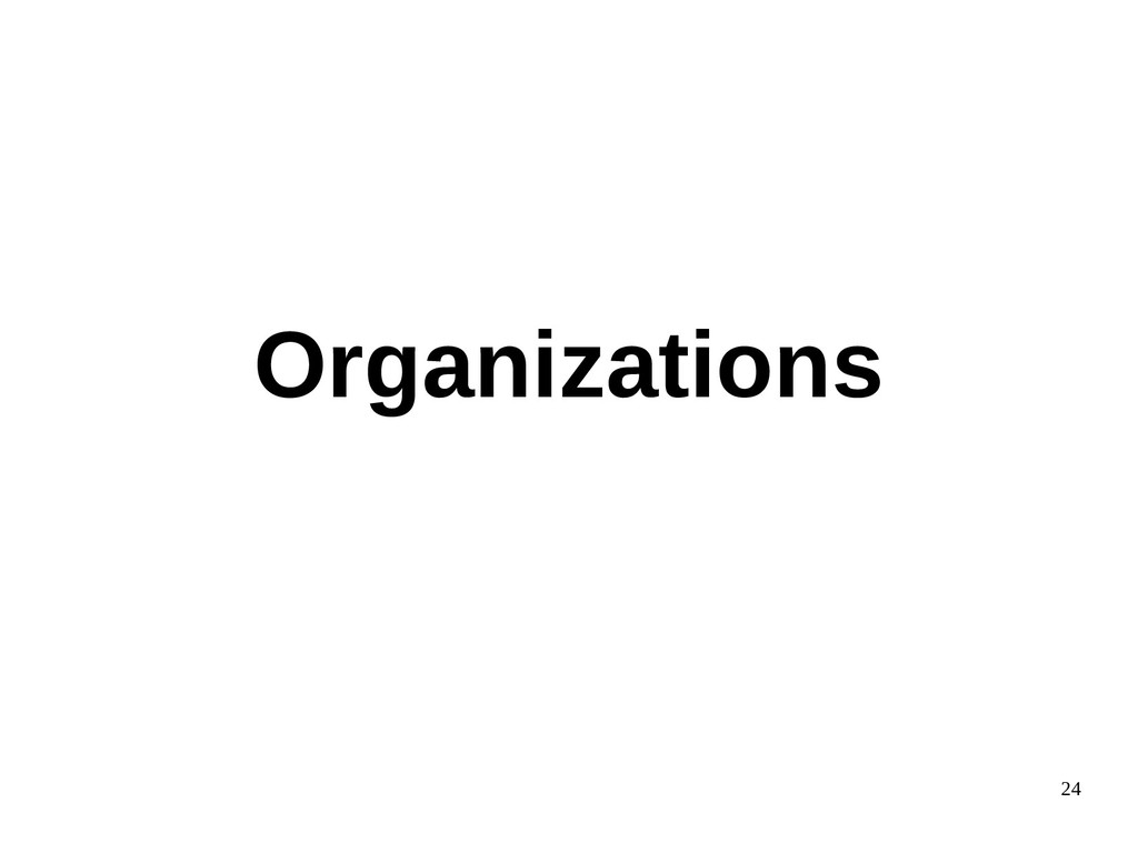 24 Organizations