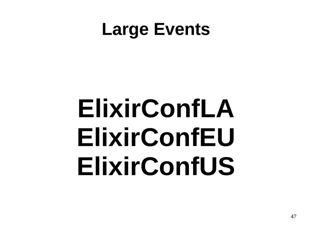 47 ElixirConfLA ElixirConfEU ElixirConfUS Large...