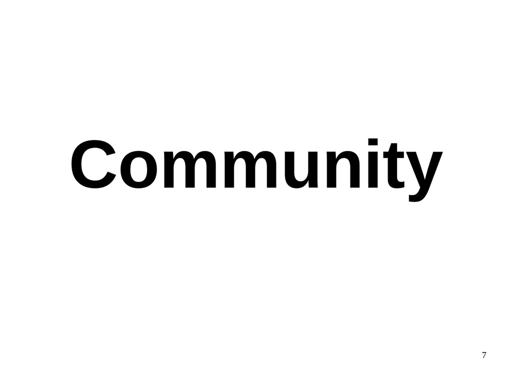 7 Community