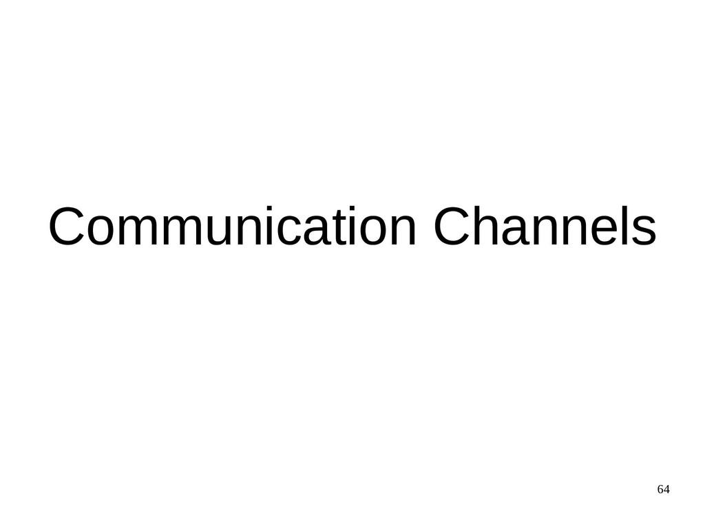 64 Communication Channels