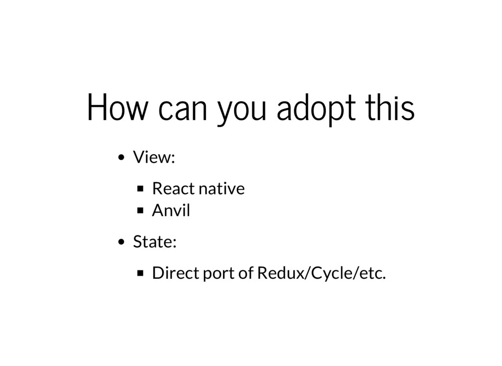 How can you adopt this View: React native Anvil...
