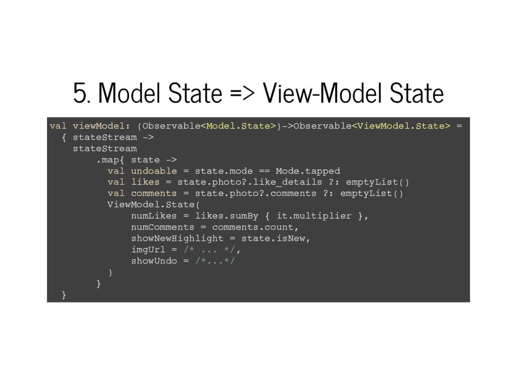 5. Model State => View-Model State v a l v i e ...