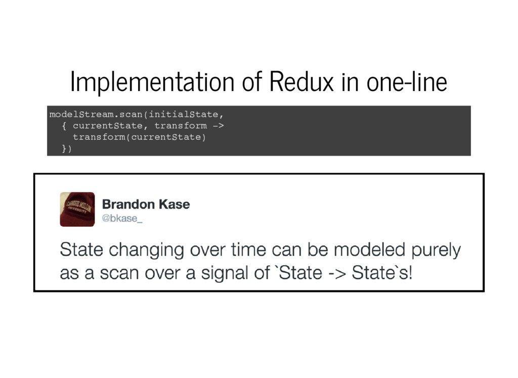 Implementation of Redux in one-line m o d e l S...
