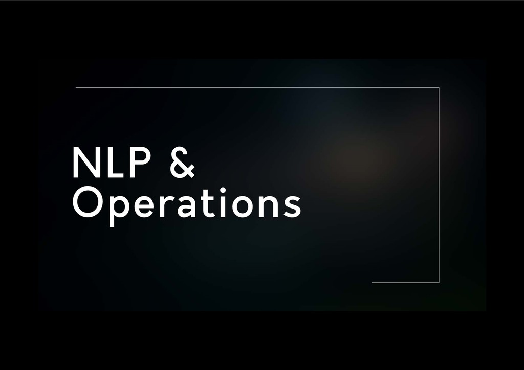 NLP & Operations