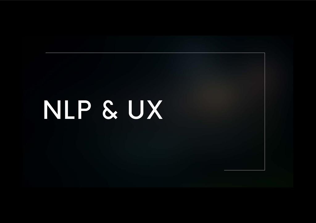 NLP & UX