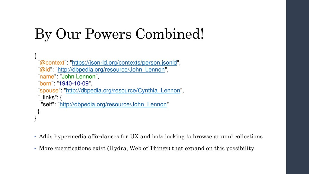 """By Our Powers Combined! { """"@context"""": """"https://..."""