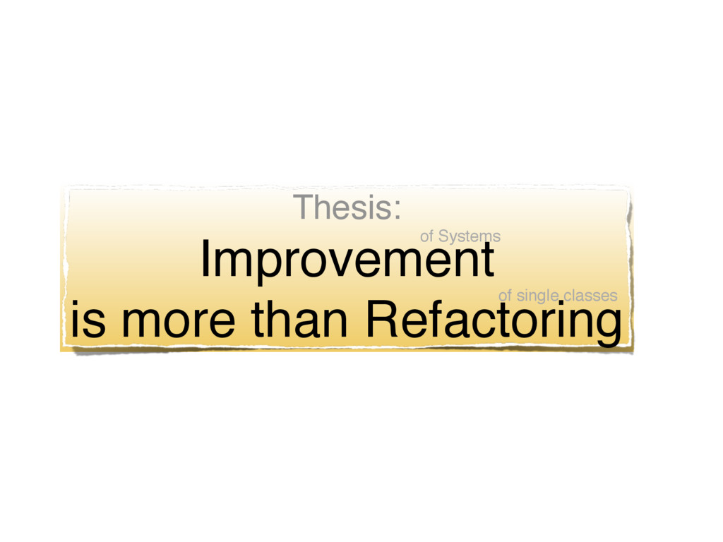 Thesis: Improvement