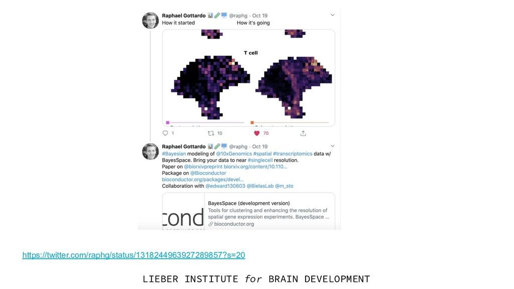 LIEBER INSTITUTE for BRAIN DEVELOPMENT https://...