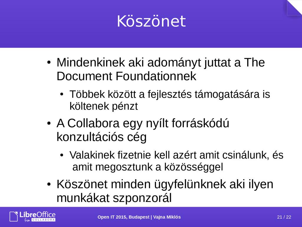 21 / 22 Open IT 2015, Budapest | Vajna Miklós K...