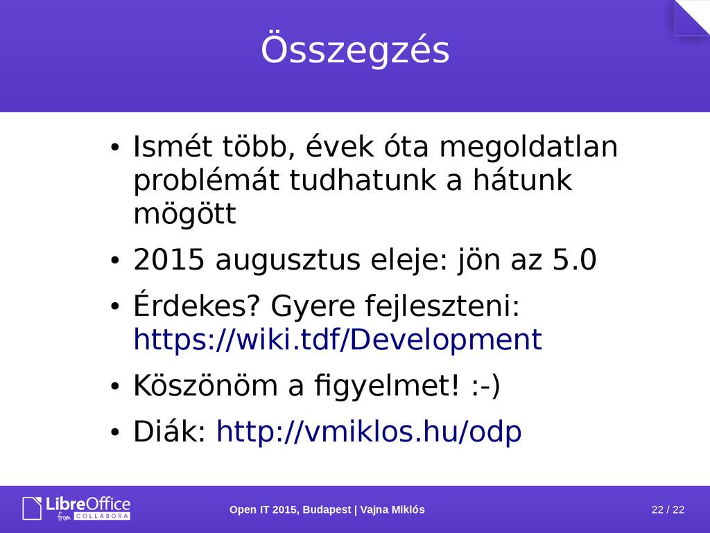 22 / 22 Open IT 2015, Budapest | Vajna Miklós Ö...