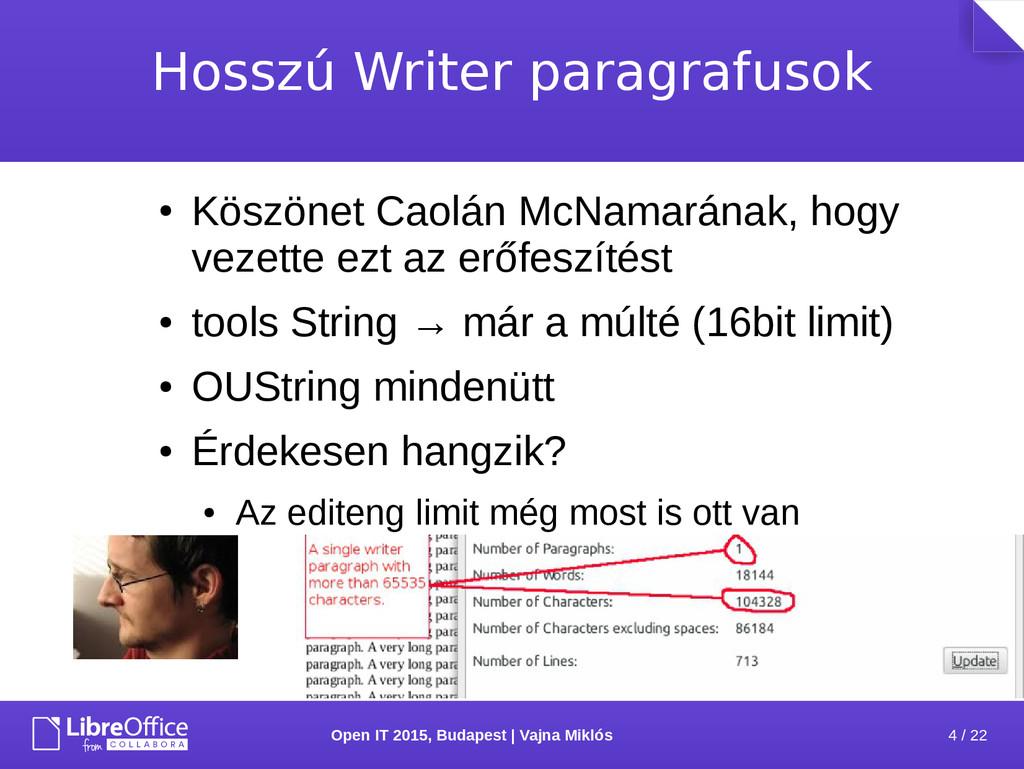 4 / 22 Open IT 2015, Budapest | Vajna Miklós Ho...