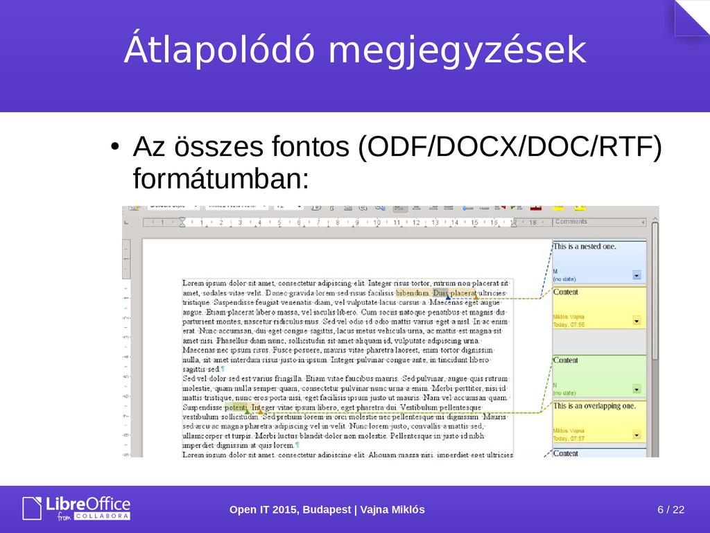 6 / 22 Open IT 2015, Budapest | Vajna Miklós Át...