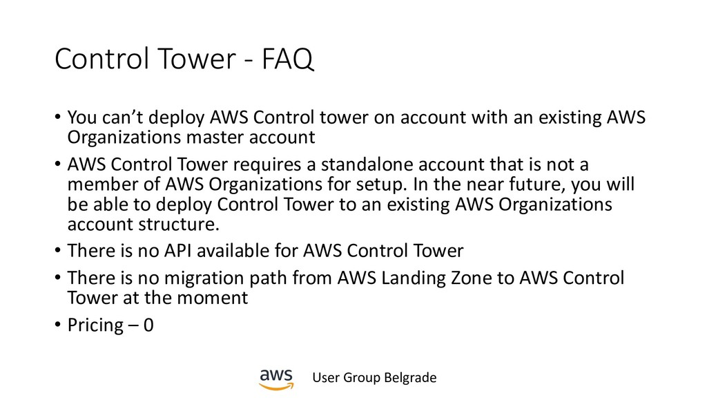 User Group Belgrade Control Tower - FAQ • You c...