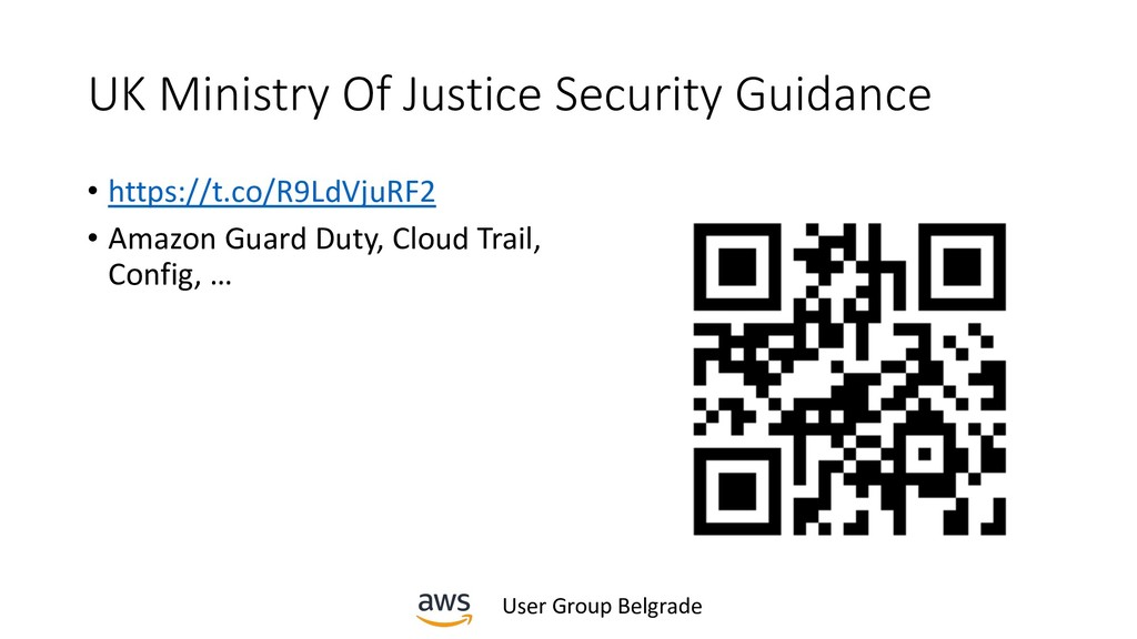 User Group Belgrade UK Ministry Of Justice Secu...