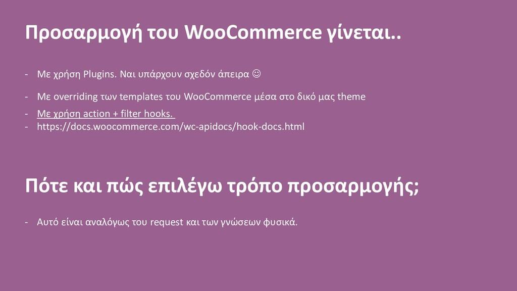 Προσαρμογή του WooCommerce γίνεται.. - Με χρήση...