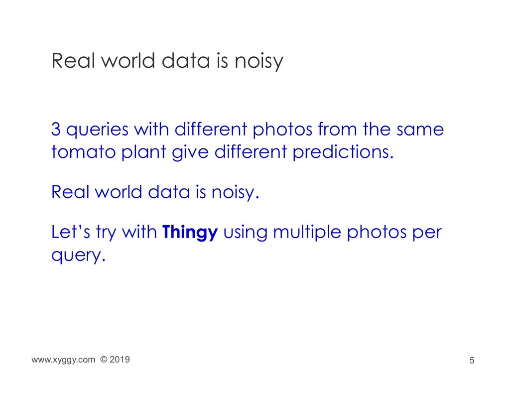 5 Real world data is noisy 3 queries with diffe...