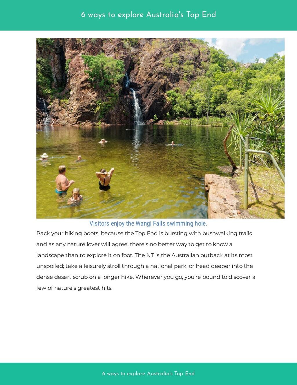 6 ways to explore Australia's Top End 6 ways to...