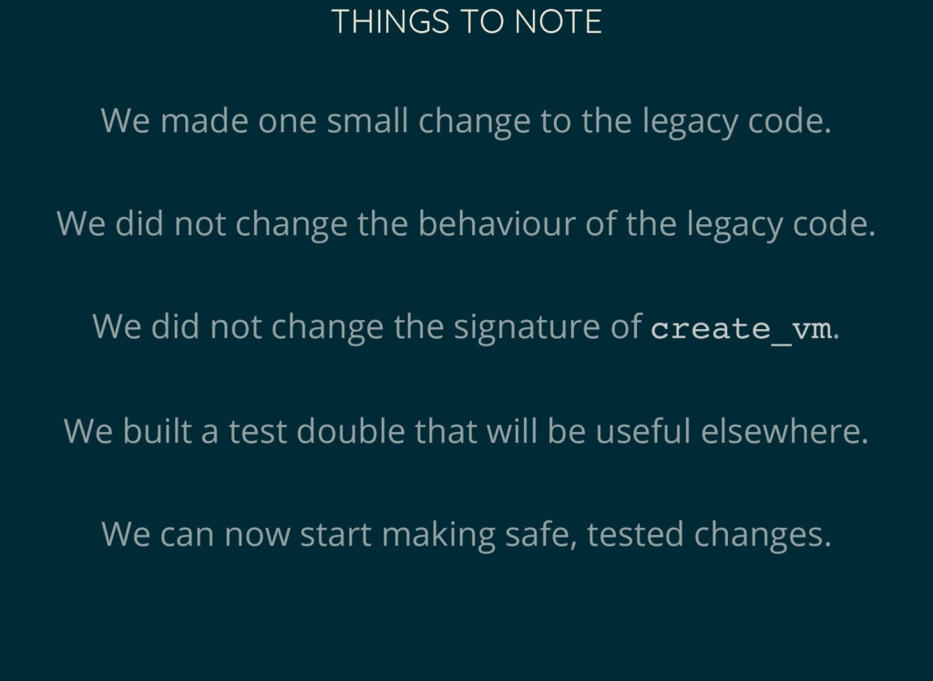 THINGS TO NOTE We made one small change to the ...