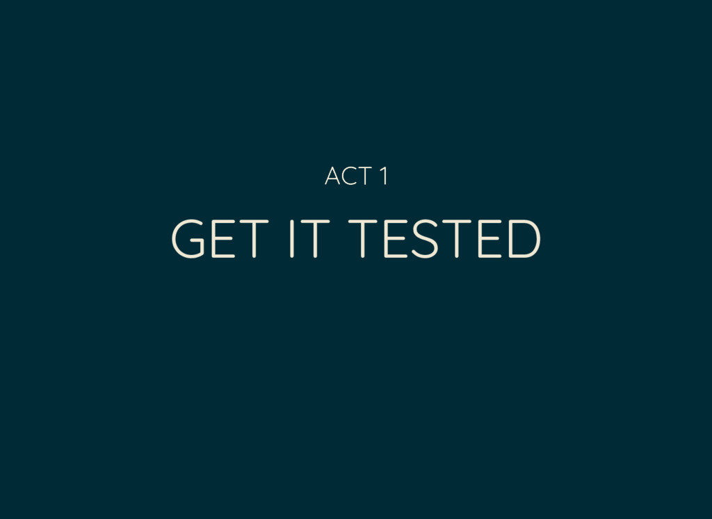 GET IT TESTED ACT 1