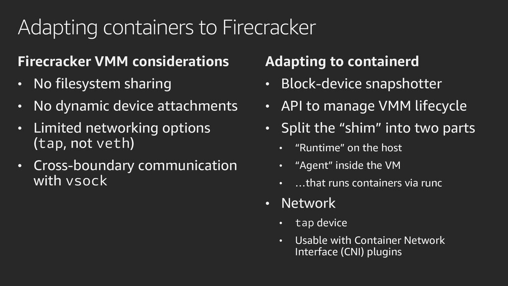 Adapting containers to Firecracker Firecracker ...