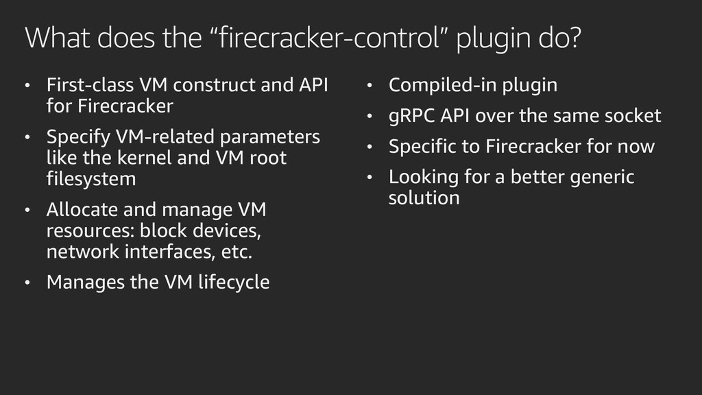 "What does the ""firecracker-control"" plugin do? ..."