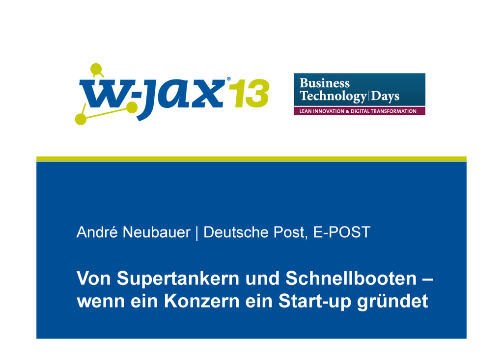 André Neubauer | Deutsche Post, E-POST Von Supe...