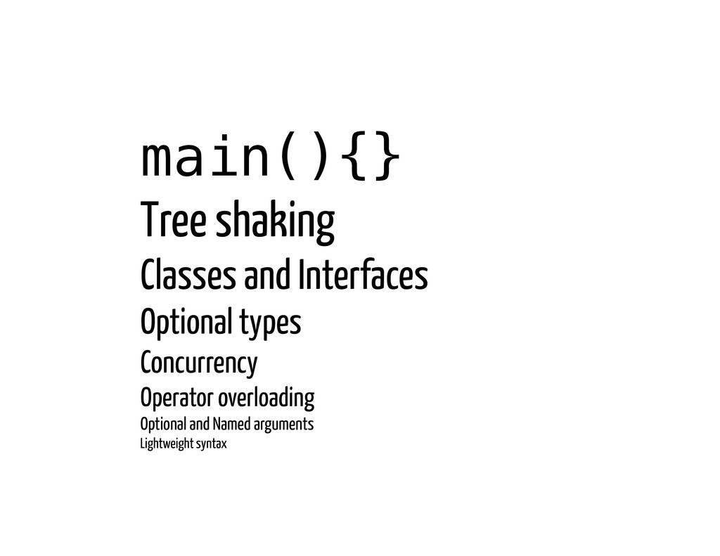 main(){}! Tree shaking