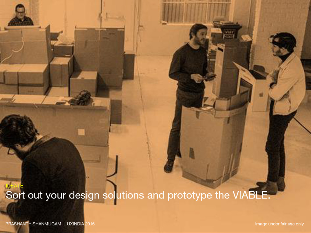 IDEATE Sort out your design solutions and proto...