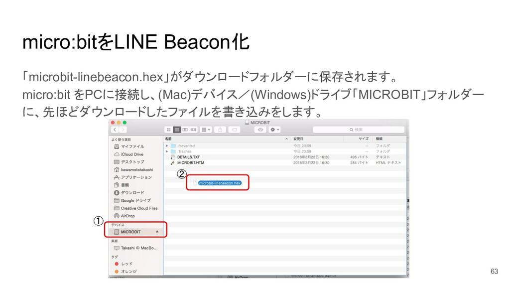 micro:bitをLINE Beacon化 63 「microbit-linebeacon....