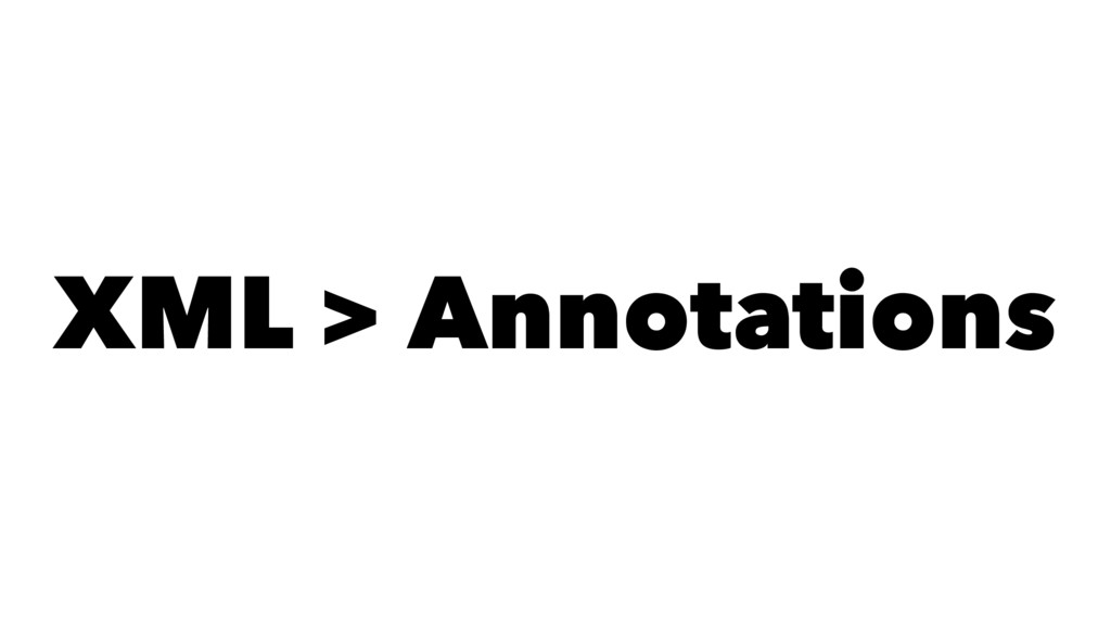 XML > Annotations