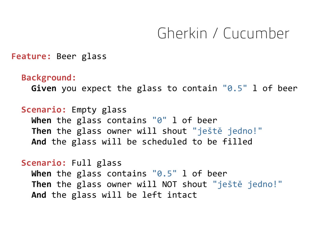Feature: Beer glass Background: Given you expec...