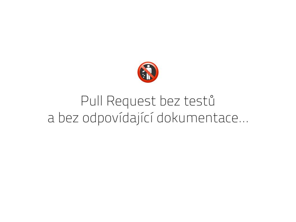Pull Request bez testů a bez odpovídající dokum...
