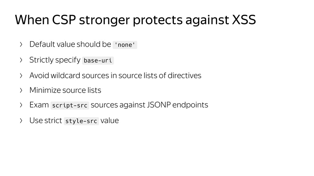 When CSP stronger protects against XSS Default ...