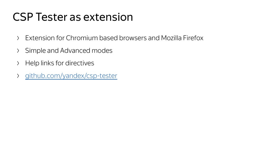 CSP Tester as extension Extension for Chromium ...
