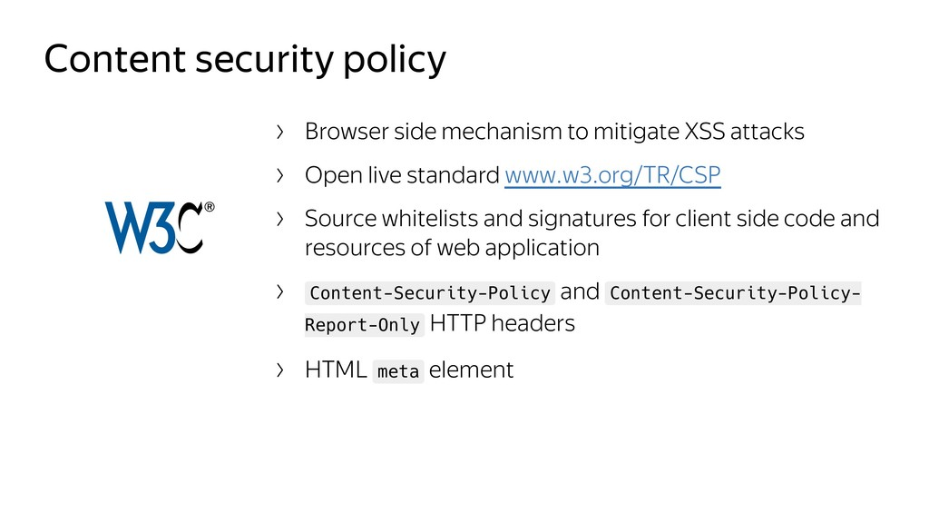 Content security policy Browser side mechanism ...