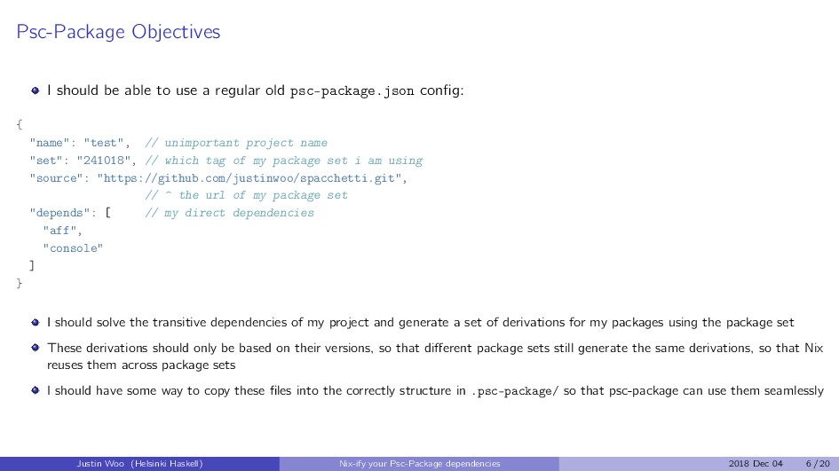 Psc-Package Objectives I should be able to use ...