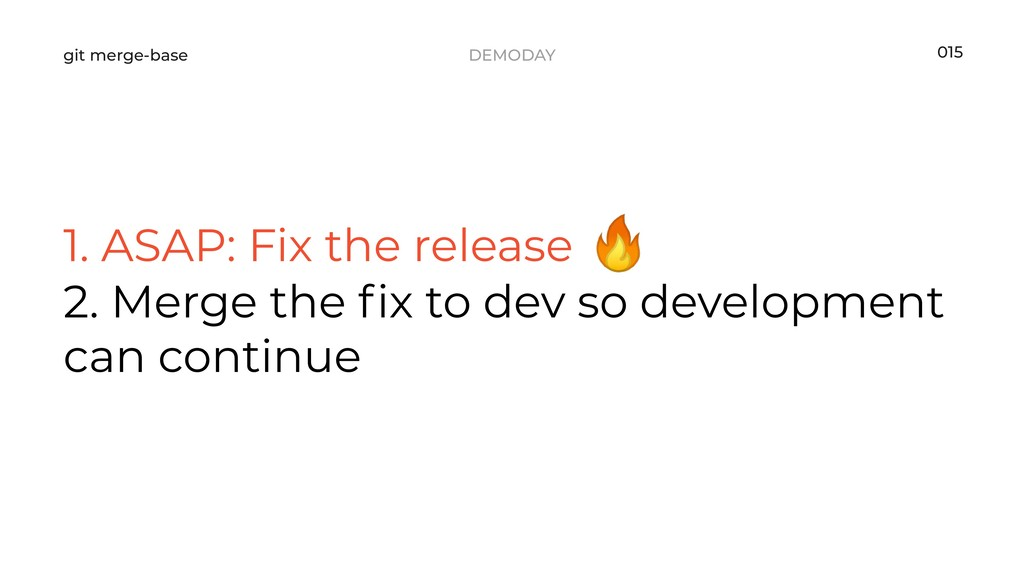 DEMODAY git merge-base 1. ASAP: Fix the release...