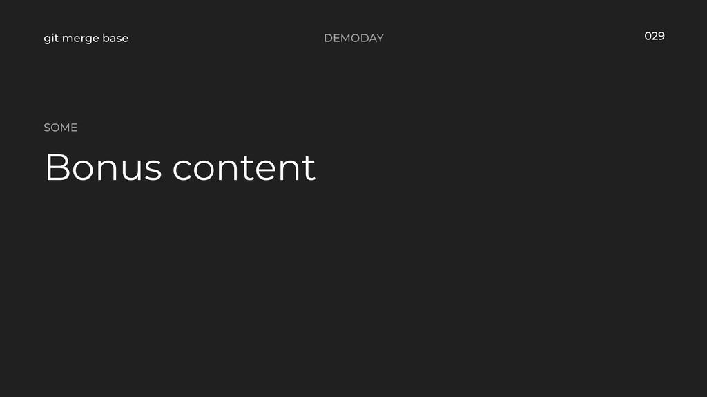 DEMODAY git merge base Bonus content SOME 029