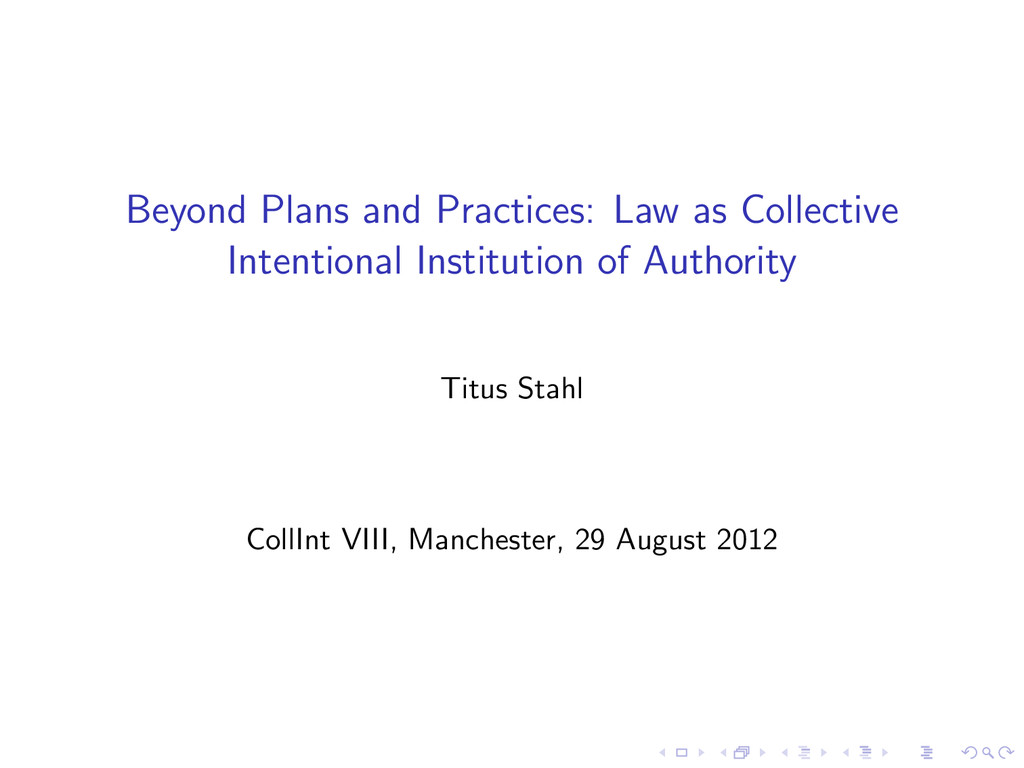 Beyond Plans and Practices: Law as Collective I...