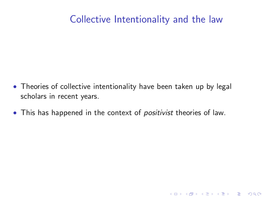 Collective Intentionality and the law • Theorie...