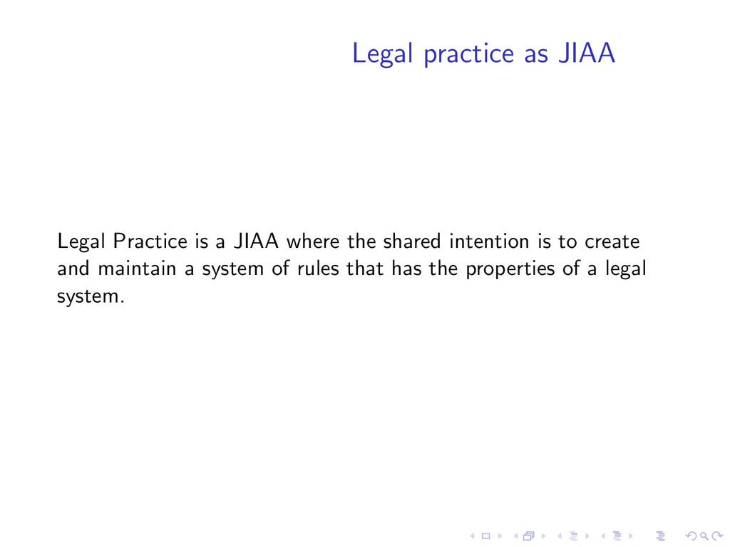 Legal practice as JIAA Legal Practice is a JIAA...