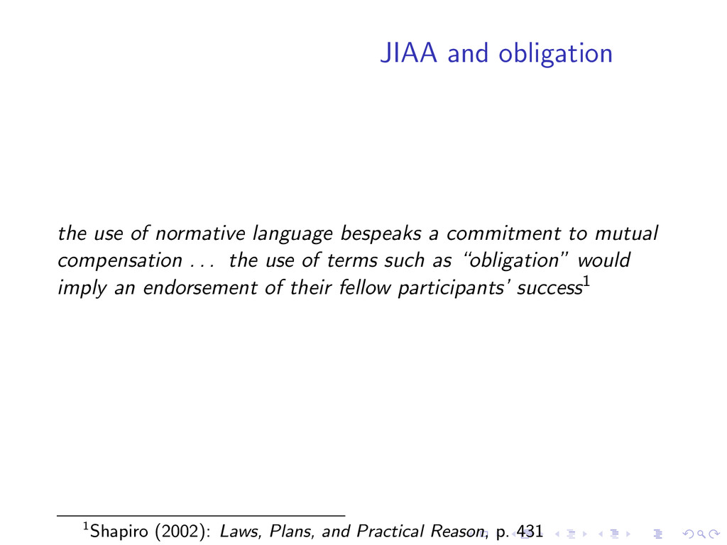 JIAA and obligation the use of normative langua...