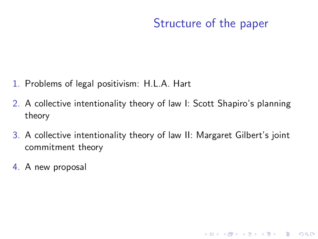 Structure of the paper 1. Problems of legal pos...