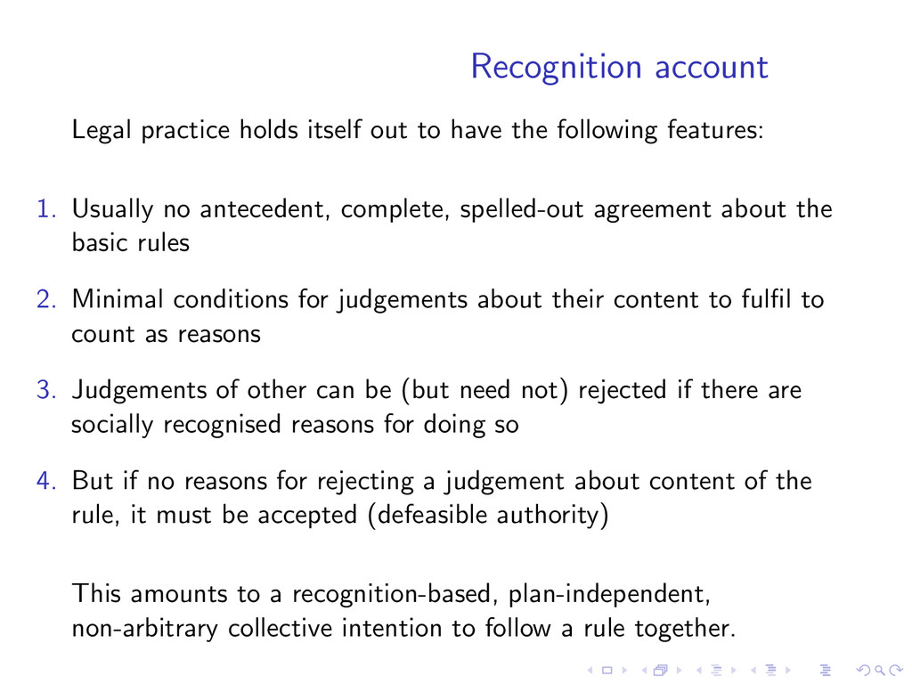 Recognition account Legal practice holds itself...