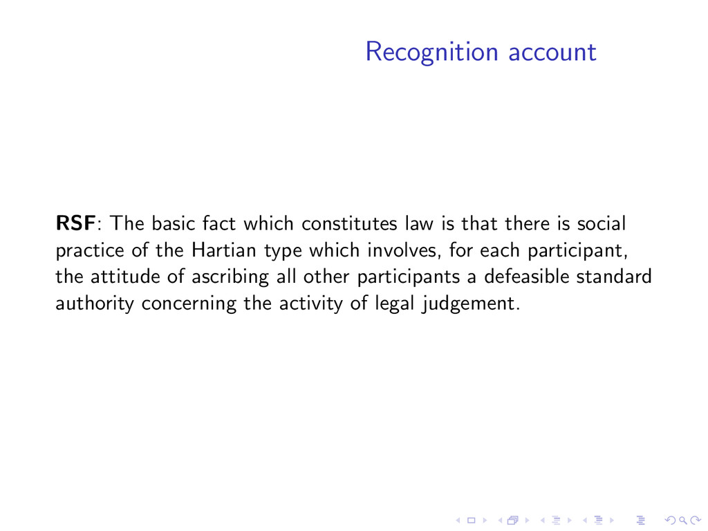Recognition account RSF: The basic fact which c...