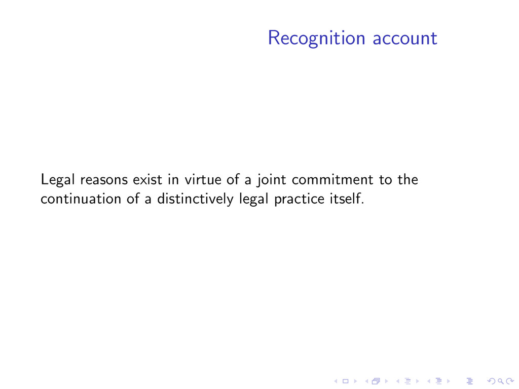 Recognition account Legal reasons exist in virt...