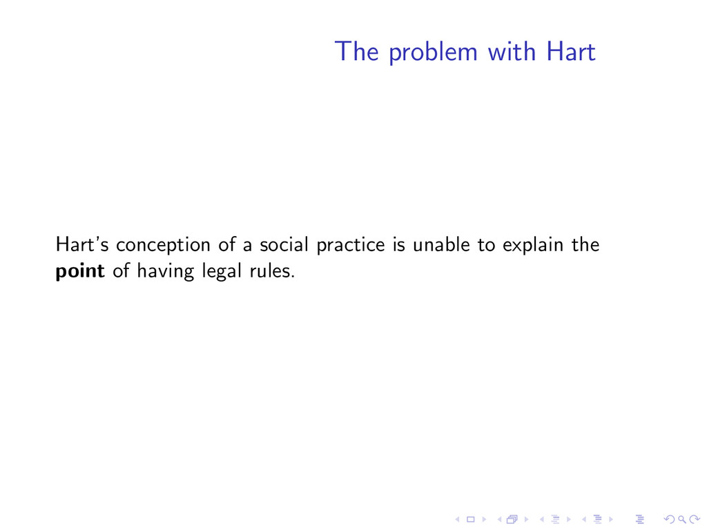 The problem with Hart Hart's conception of a so...