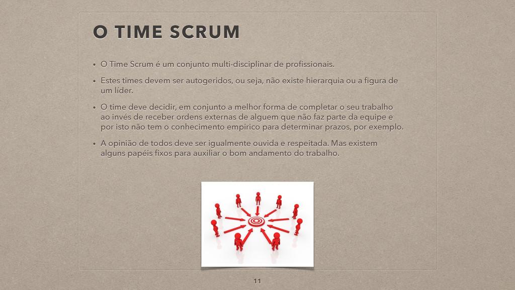 O TIME SCRUM 11 • O Time Scrum é um conjunto mu...