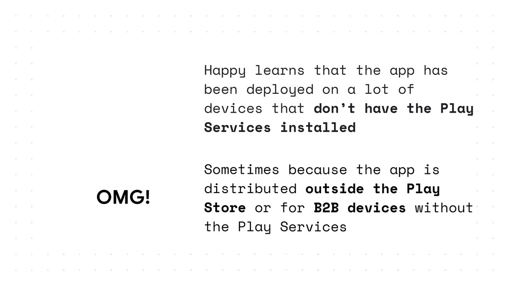 OMG!  Happy learns that the app has been deploy...