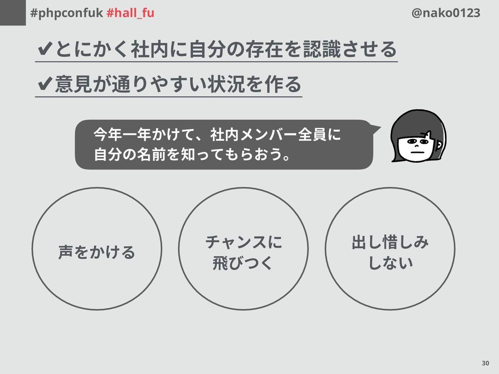 #phpconfuk #hall_fu @nako0123 ✔とにかく社内に自分の存在を認識さ...